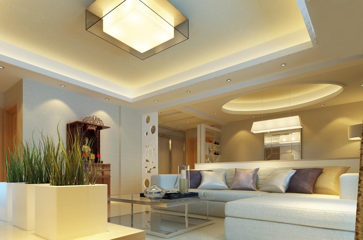 Sanca Aberta Sala Iluminao Sanca Aberta Pendentes Cozinha Americana  -> Luminaria De Gesso Para Sala